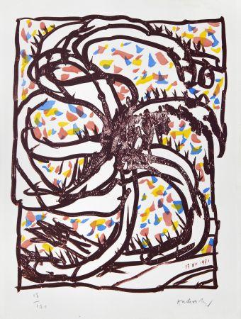 リトグラフ Alechinsky - Jantes et jambes