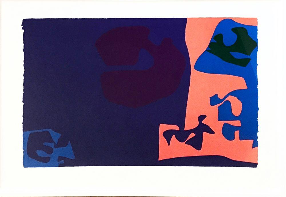 シルクスクリーン Heron -  January 1973: Plate 18