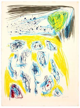 リトグラフ Jorn - Jaune bleu