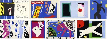 挿絵入り本 Matisse - JAZZ (20 lithographies en couleurs hors-texte). 1ère édition.
