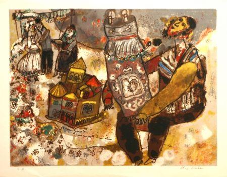 リトグラフ Tobiasse -  Je Ressons Jerusalem une partie de moi-meme