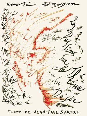 リトグラフ Masson - Jean-Paul Sartre : Vingt-Deux Dessins Sur Le Thème Du Désir