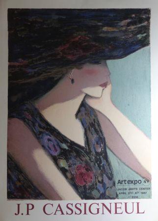 掲示 Cassigneul  - Jean-Pierre Cassigneul (1935 -), art expo New York. 1987. Affiche lithographique