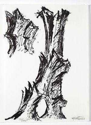 リトグラフ Wotruba - Jean Cassou: vingt-deux poèms