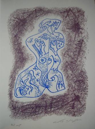 リトグラフ Masson - Jean Cassou: vingt-deux poèms