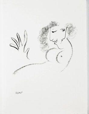 リトグラフ Chagall - Jean Cassou: vingt-deux poèms