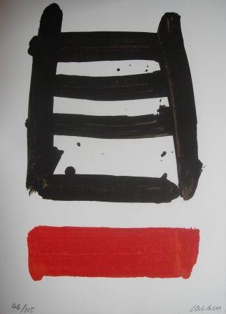 リトグラフ Soulages - Jean Cassou: vingt-deux poèms