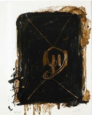 リトグラフ Tàpies - Jean Cassou: vingt-deux poèms