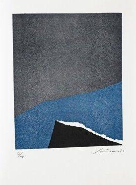 リトグラフ Santomaso - Jean Cassou: vingt-deux poèms