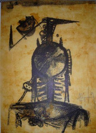 リトグラフ Lam - Jean Cassou: vingt-deux poèms