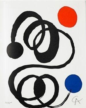 リトグラフ Calder - Jean Cassou: vingt-deux poèms