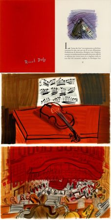 挿絵入り本 Dufy - Jean Witold : CONCERT DES ANGES - 9 lithographies en couleurs (1963).