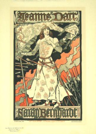 リトグラフ Grasset - Jeanne D'arc  Les Maitre de L'affiche Planche 174