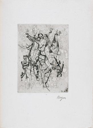 挿絵入り本 Bryen - Jepeinsje. Poème et eau-forte de Camille Bryen (1955)