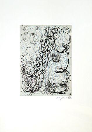 彫版 Penck - Jetset 4 Brillenträger