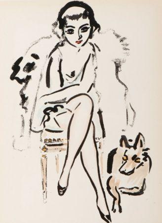 ステンシル Van Dongen - Jeune femme au chien
