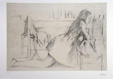 リトグラフ Balthus - Jeune fille agenouillée