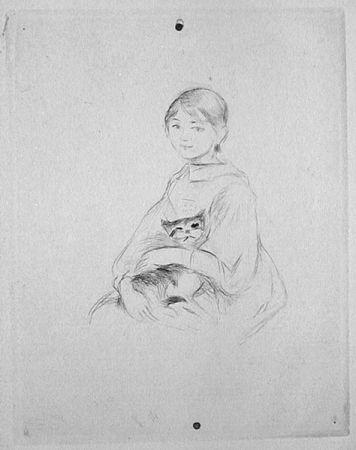 ポイントーセッシュ Morisot - Jeune fille au chat