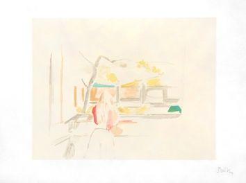 リトグラフ Balthus - JEUNE FILLE DE DOS