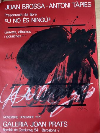 掲示 Tàpies - Joan Brossa- Antoni Tàpies Poster
