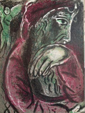 リトグラフ Chagall - Job désespéré