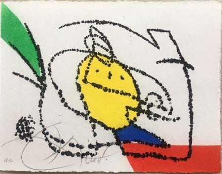 挿絵入り本 Miró - Jordi de Sant Jordi : CHANSON DES CONTRAIRES. Avec une gravure signée de Joan Miró (1976).