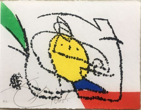 挿絵入り本 Miró - Jordi de Sant Jordi : CHANSON DES CONTRAIRES. Une gravure signée de Joan Miró (1976).