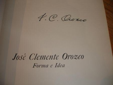 挿絵入り本 Orozco - Jose Clemente Orozco. Forma e Idea.