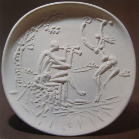 セラミック Picasso - Joueur de diaule et faune