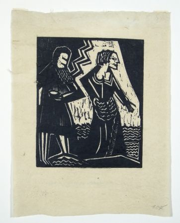 木版 Achmann - Judith und Holofernes II