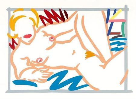 シルクスクリーン Wesselmann - Judy on a Blue Blanket