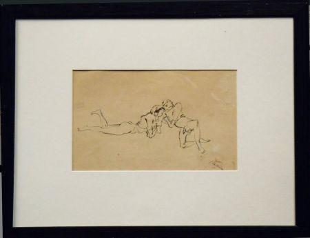 技術的なありません Pascin - Jules Pascin. Couple allongé, vers 1922. Dessin.