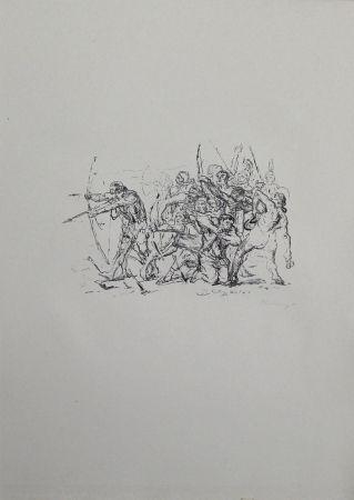 リトグラフ Slevogt - Kampf der Hellenen gegen die Barbaren