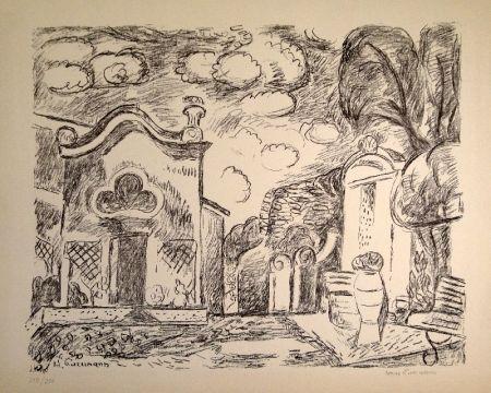 リトグラフ Purrmann - Kapelle und Brunnen in Levanto