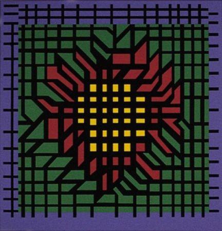 リトグラフ Vasarely - Kat-Zag