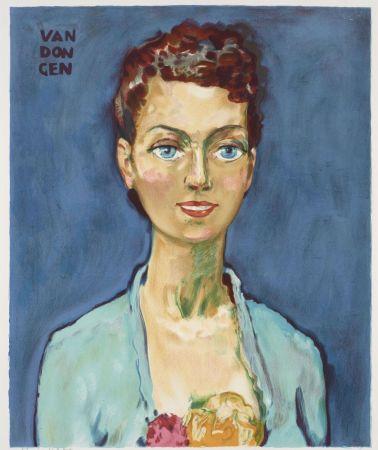 リトグラフ Van Dongen - Kees van Dongen (1877-1968). Hommage à Marie-Claire. Lithographie signée.