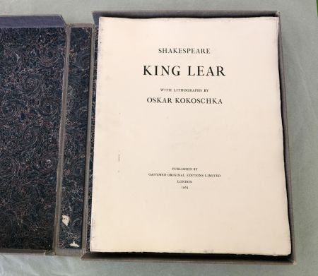 リトグラフ Kokoschka - King Lear
