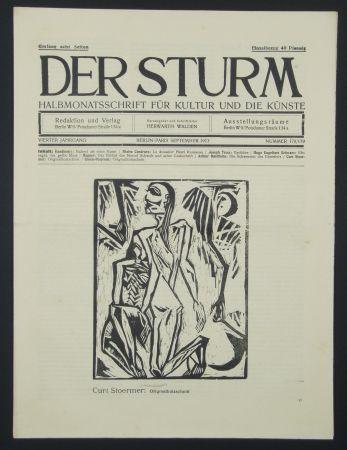 木版 Stoermer - Knieender Mann (Kneeling Man)