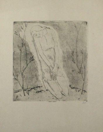 エッチングと アクチアント Geiger - Kniende (Grosse Fassung) / Kneeling Woman (Large Version)