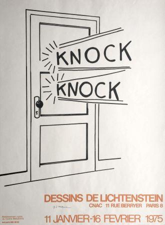 リトグラフ Lichtenstein - Knock Knock (Hand Signed) Pop Art Poster Print 1975
