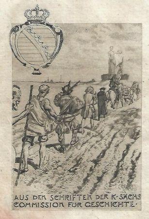 エッチングと アクチアント Klinger - Kollektiv-Titel für Veröffentlichungen der kgl. sächsischen Komission für Geschichte