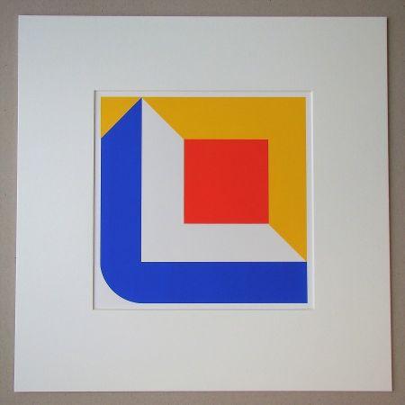 シルクスクリーン Pfahler - Komposition 1968
