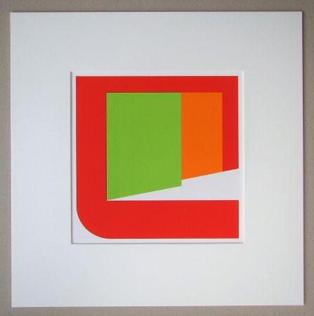 シルクスクリーン Pfahler - Komposition 1969