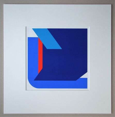 シルクスクリーン Pfahler - Komposition 1975