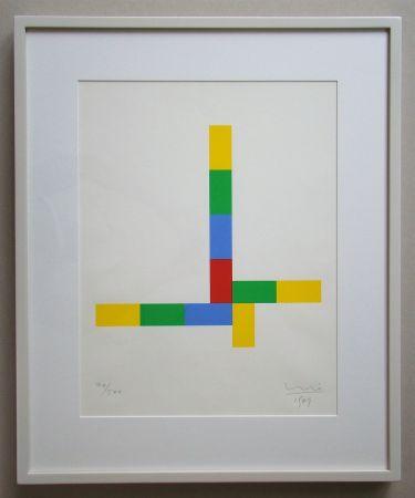 シルクスクリーン Bill - Konkrete Komposition - 1969