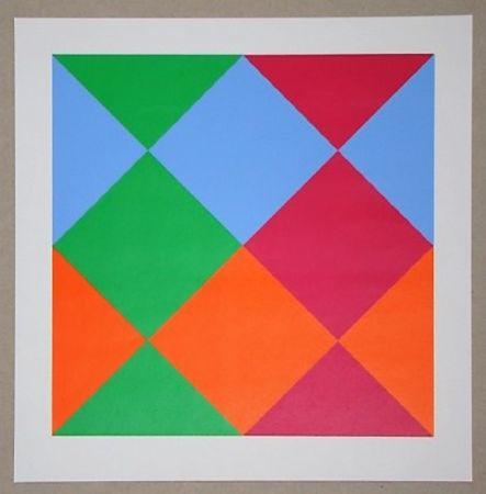 シルクスクリーン Bill - Konkrete Komposition, 1966