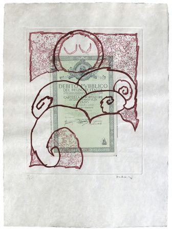 エッチング Alechinsky - Krach I.