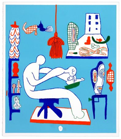 リトグラフ Behncke - Kristian Hildebrandt