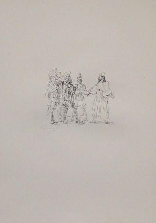 リトグラフ Slevogt - Kyros und die hellenischen Obersten