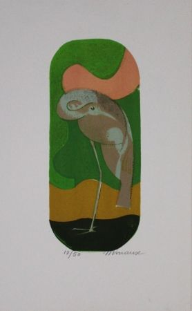 リトグラフ Minaux - L'échassier / Wading Bird